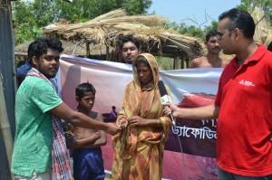 Helping Flood Victim